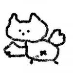 飛ぶネコの絵