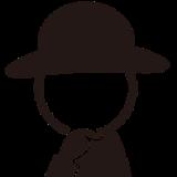 黒帽子のしん