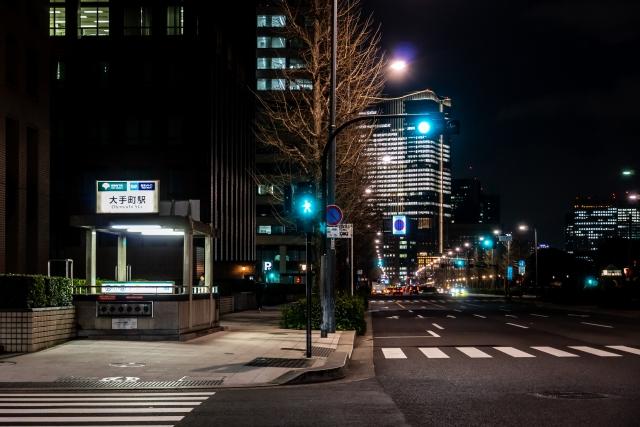 東京大手町の夜景